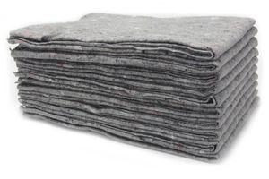 Packdecken Möbeldecken - 10 Stück, Strapazierfähige Lagerdecken für Umzug und Trasport