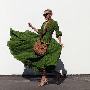 Loose Beach Dress Frauen Sommer Maxi Kleid