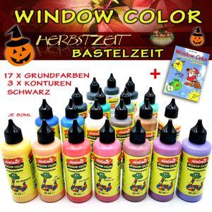 Window Color Herbst Set 20 Fenstermalfarben Fensterfarben Malfarben Fensterbild