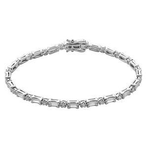 Xenox Damen 925 Sterling Silber Tennisarmband mit Zirkonia in silberfarben - GLOW - XS2046L