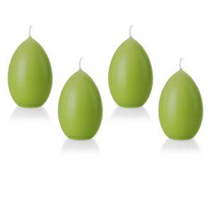 4er Set Eierkerze, Osterei, 9 x 6,2 cm, grün