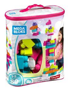 Mega Bloks Bausteinebeutel pink (80 Teile)