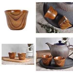 3 Stücke Holz Tasse Handgemachte Natürliche Holz Kaffee Tee Biersaft Milch