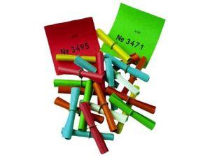 Gewinnlose bunt mit Sicherheitsring 50 Stück (1-50)