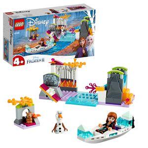 LEGO 41165 Disney Princess Frozen Die Eiskönigin 2 Annas Kanufahrt, Bauset mit Minipuppen Anna & Olaf und Hasenfigur, einfach zu bauendes Set mit Grundplatte für Vorschulkinder im Alter von 4-7 Jahren