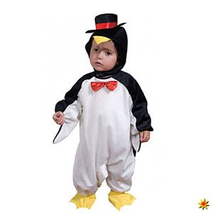 Witbaard kinderkostüm Pinguin schwarz/weiß Größe 1-2 Jahre