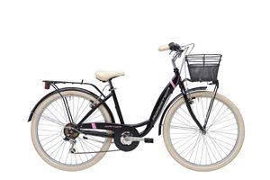 26 Zoll Cityrad Damen Adriatica Panda 6 Gänge Schwarz 42 cm Rahmengröße