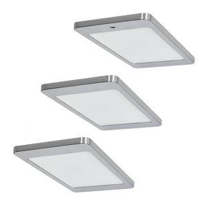 Brinkdöpke 3er-Set LED Leuchte KYRA 3x4,8W, Edelstahl-Optik, 3500K warmweiß