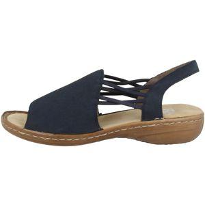 Rieker Damen Sandale Regina 608 Blau