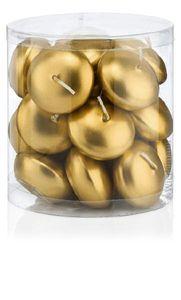 Schwimmkerzen Gold 20 Stück 45 Mm In Bester Ral Kerzen Qualität