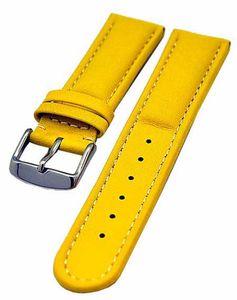 Uhrenarmband Armband gelb sportlich gepolstert 22mm Kalbleder NEU