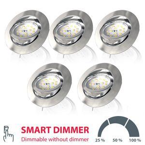 LED Einbauleuchte dimmbar inkl. LED Modul 5,5W 470 Lumen Smart-Dimmer schwenkbar Einbaustrahler Warmweiss B.K.Licht