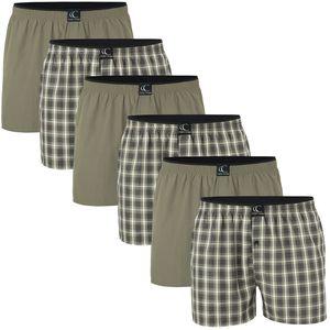 Clark Crown® Web-Boxershorts 6er Pack L khaki