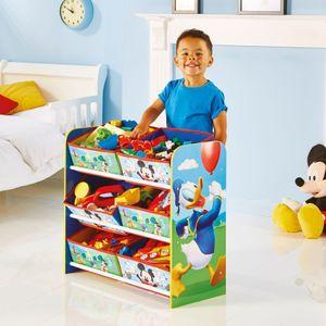 Worlds Appart Mickey Mouse - Regal zur Spielzeugaufbewahrung mit sechs Kisten für Kinder, 471MKS