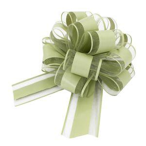 Oblique Unique Geschenkschleife Deko Schleife für Geschenke Tüten Zuckertüte Weihnachten Geschenkdeko - grün