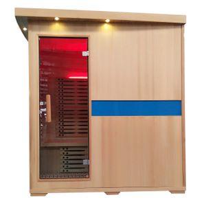 Infrarotkabine MCW-D49, Infrarotsauna Wärmekabine, Musik LED Sicherheitsglas Sauerstoff  4 Personen, Karbonheizung