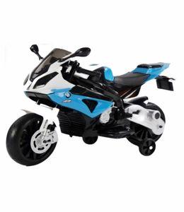 Großes blaues elektrisches Motorrad BMW S1000RR