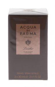 Acqua di Parma Colonia Leather Gift Set 2 x 30ml EDC Travel Spray Refills
