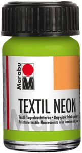 """Marabu Textilfarbe """"Textil Neon"""" neon-grün 15 ml auf Wasserbasis"""