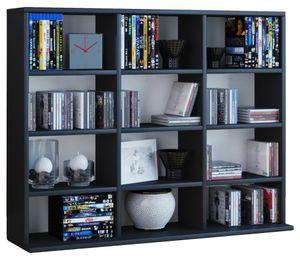 Regal Regalwand Standregal Sammlerregal Aufbewahrung Bücherregal Schrank schwarz