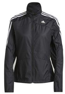 adidas Damen Laufjacke Running-Jacked Marathon 3-Streifen Jacke schwarz, Größe:XL