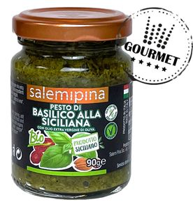 Pesto Sizilianische Art mit Basilikum –& vegan - 90g