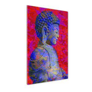 Tulup® Glas-Bild Wandbild aus Glas - 60x120 - Wandkunst - Wandbild hinter gehärtetem Sicherheitsglas - Dekorative Wand für Küche & Wohnzimmer  - Kunst: modern & klassisch - Buddha-Abstraktion - Mehrfarbig