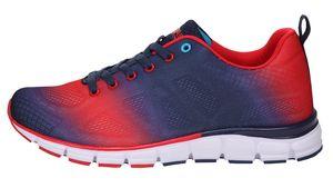 Boras Fashion Sports Uni Sneaker auch in Übergrößen Sprayed navy/red/white 5201-0215, Herren:51 EU