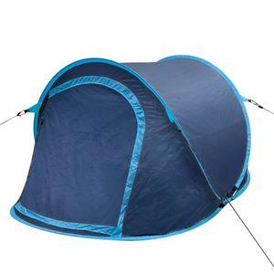 dereoir Faltbares Zelt für 2 Personen marineblau/ hellblau