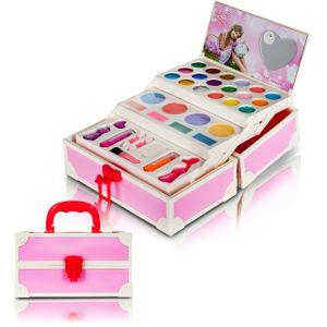 MalPlay Makeup-Set   Rosa   Schminkset im Koffer   Kinderschminke   Kinderkosmetik   für Kinder ab 3 Jahren   mit Zubehör