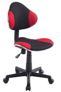 CLP Arbeitshocker Bastian, schwarz höhenverstellbar und drehbar, Farbe:rot