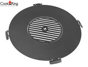 CookKing 222380 Grillplatte für Feuerschale Feuerstelle Terrassenschale 82cm mit Grillrost 40cm und 4 Griffen