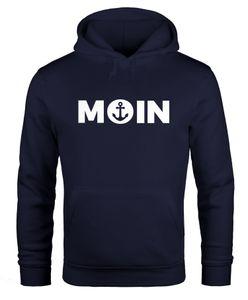 Hoodie Herren Moin Herz mit Anker Kapuzen-Pullover Moonworks® navy L