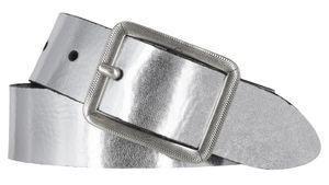 Mytem Gear Ledergürtel silber Damengürtel 35 mm Leder 105