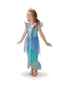 Arielle-Kostüm für Kleinkinder Mädchenkostüm Faschingskostüm blau