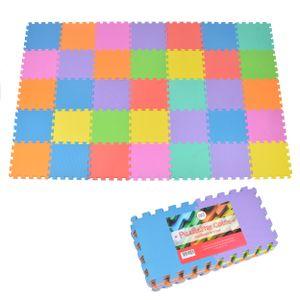 """Pink Papaya Puzzlematte """"Puzzlestar Color"""" 36 teilige Spielmatte mit farbigen Teilen"""