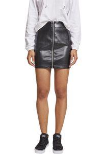 Urban Classics Ladies Faux Leather Zip Skirt TB2370, color:black, size:4XL