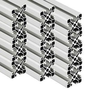 PremiumX 12x 2000mm Aluminium Profil Aluprofil 40x40 mm Nut 8 Strebenprofil eloxiert