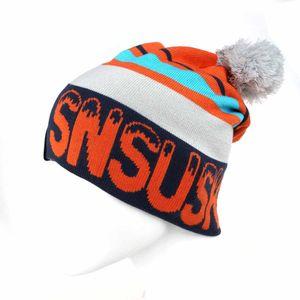 Winter gestrickte Ski Snowboard Wandern Kappe Klettern Kappe Reiten -(Orange,)