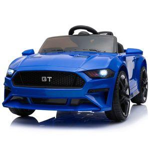 GT Raptor 2x Motoren 12V Elektro Kinderauto elektrisch Kinder Elektroauto mit Fernbedienung und öffnenden Türen (Blau)