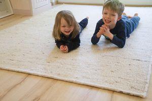Steffensmeier Handweb Teppich Korinth   Gesunder Wollteppich   Beste Schurwolle   Natur Hell, handgewebt, Größe: 160x230 cm