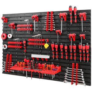 Werkzeugwand 1152 x 780 mm Set 55 Werkzeughaltern mit Lochwand Lagersystem
