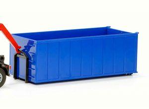 Abrollcontainer hoch  blau 1:25