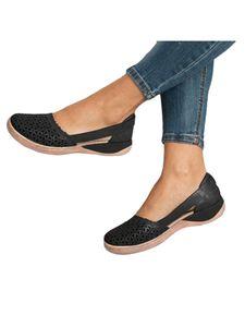 Abtel Damen Hohlsandalen Wedge High Heels Bequem,Farbe:Schwarz,Größe:38