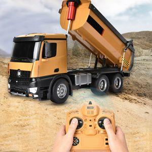 Profi HUINA 10CH 1:14 RC LKW Muldenkipper Engineering Bagger Spielzeug 2.4GHz Ferngesteuerter Modell Truck