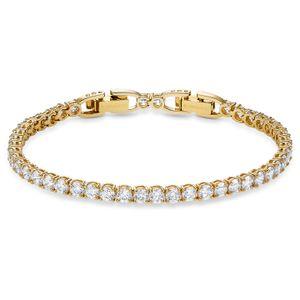 Swarovski Armband 5511544 Tennis Deluxe, weiß, vergoldet