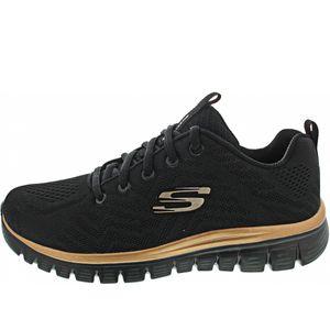 Skechers Sport Womens GRACEFUL GET CONNECTED Frauen Black/Rose Gold 12615 BKRG, Schuhgröße:38 EU