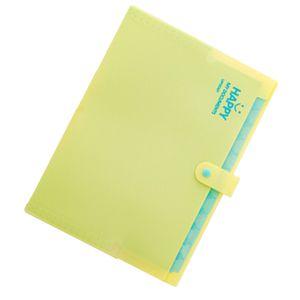 mehrlagiger Ordner Dokumententasche Organizer erweiterbarer Papierhalter gelb Farbe Gelb