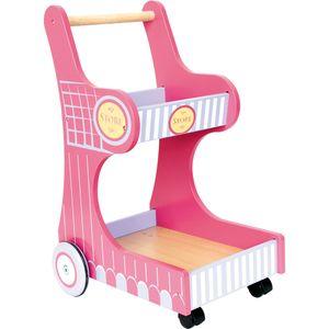 Small Foot 3102 Spielzeug-Einkaufswagen 'Isa', rosa (1 Stück)