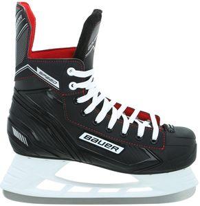 BAUER Speed Skate Herren Schlittschuh , Größe:7 - 42 EU, Farbe:schwarz-weiss-rot-silber